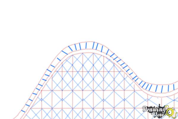 How to Draw a Roller Coaster For Kids - Step 7