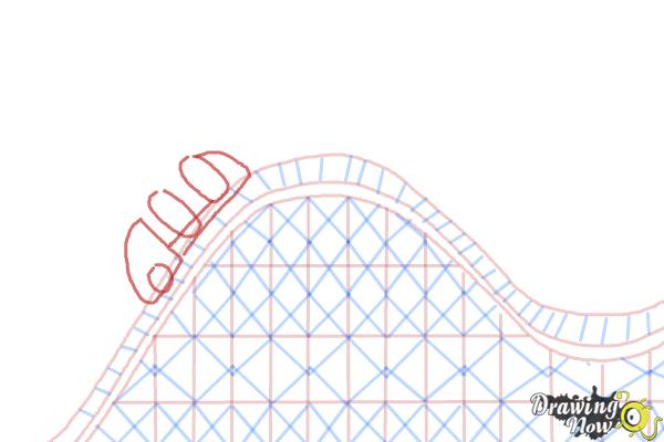 How to Draw a Roller Coaster For Kids - Step 8