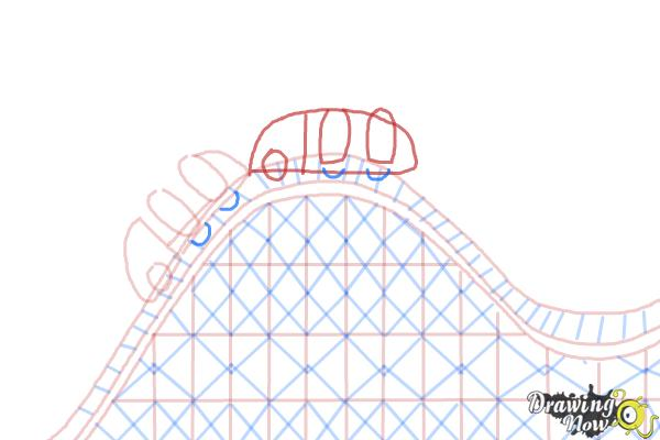 How to Draw a Roller Coaster For Kids - Step 9