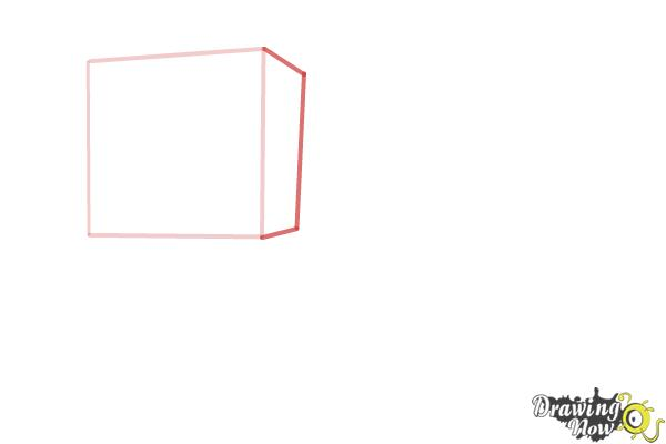 How to Draw a Minecraft Pig - Step 2
