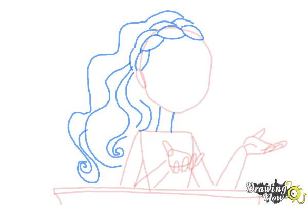How to Draw Cedar Wood The Daughter Of Pinocchio from Ever After High - Step 6