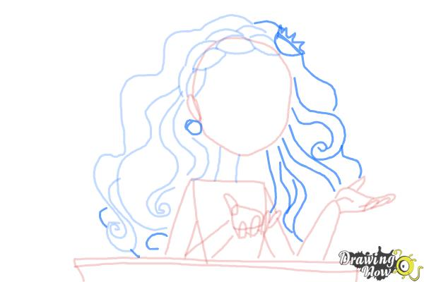 How to Draw Cedar Wood The Daughter Of Pinocchio from Ever After High - Step 7