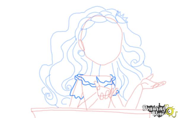How to Draw Cedar Wood The Daughter Of Pinocchio from Ever After High - Step 8