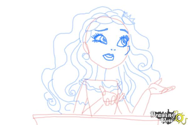 How to Draw Cedar Wood The Daughter Of Pinocchio from Ever After High - Step 9