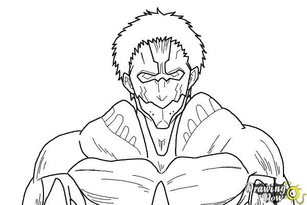 How to Draw Armored Titan from Shingeki No Kyojin - Step 10