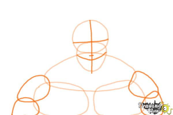 How to Draw Armored Titan from Shingeki No Kyojin - Step 3