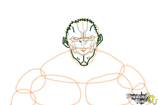 How to Draw Armored Titan from Shingeki No Kyojin - Step 6
