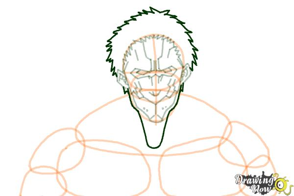 How to Draw Armored Titan from Shingeki No Kyojin - Step 7