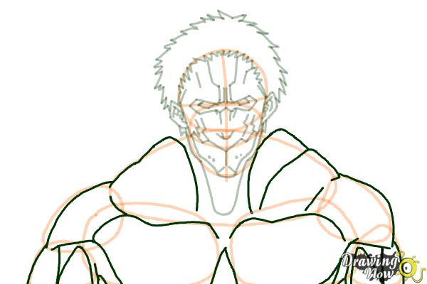 How to Draw Armored Titan from Shingeki No Kyojin - Step 8