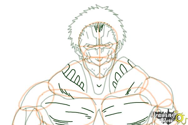 How to Draw Armored Titan from Shingeki No Kyojin - Step 9