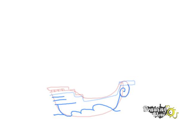 How to Draw a Pirate Ship For Kids - Step 4
