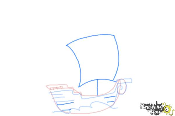 How to Draw a Pirate Ship For Kids - Step 5