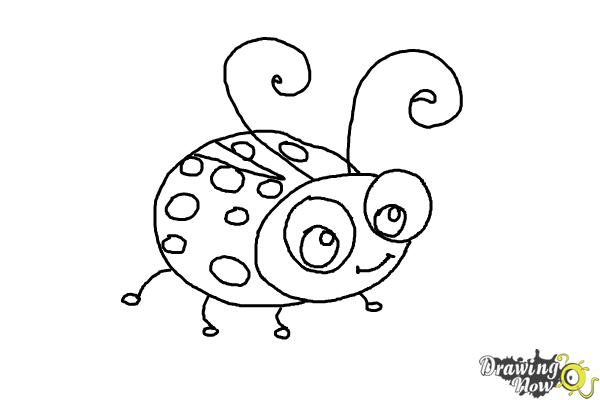 How to Draw a Ladybug For Kids - Step 9