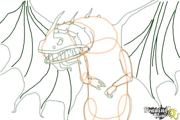 How to Draw a Flightmare Dragon from How to Train Your Dragon - Step 17
