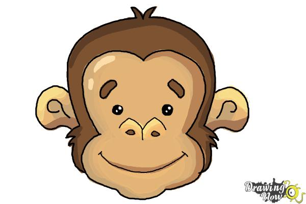 How to Draw a Monkey Face - Step 9