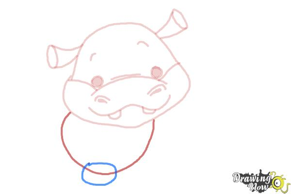 How to Draw a Hippo For Kids - Step 6