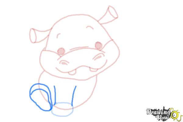 How to Draw a Hippo For Kids - Step 7