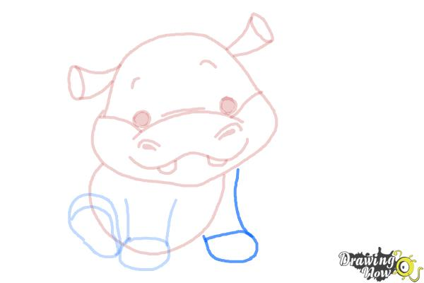 How to Draw a Hippo For Kids - Step 8