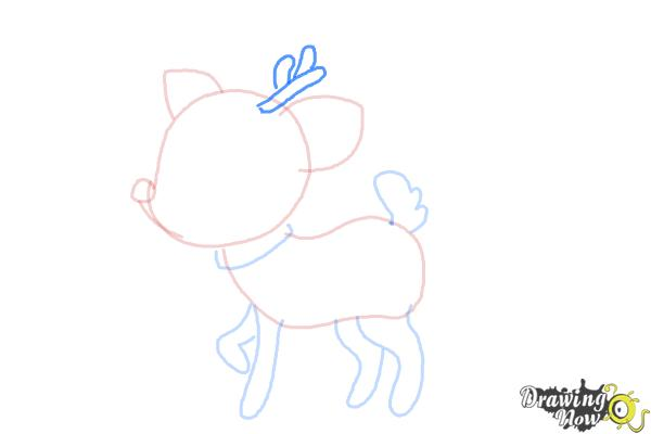 How to Draw a Deer For Kids - Step 7