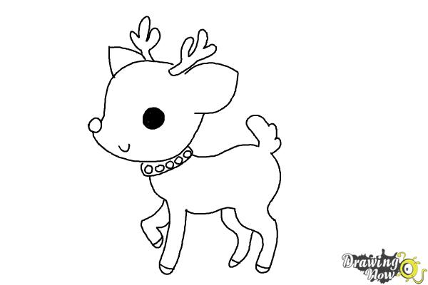 How To Draw A Deer For Kids Drawingnow