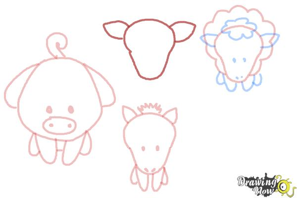 How to Draw Farm Animals For Kids - Step 10