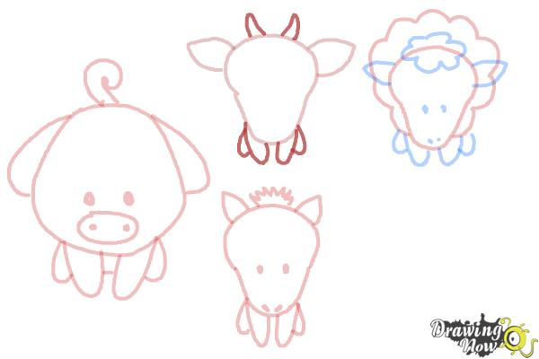 How to Draw Farm Animals For Kids - Step 11