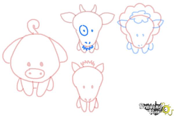 How to Draw Farm Animals For Kids - Step 12