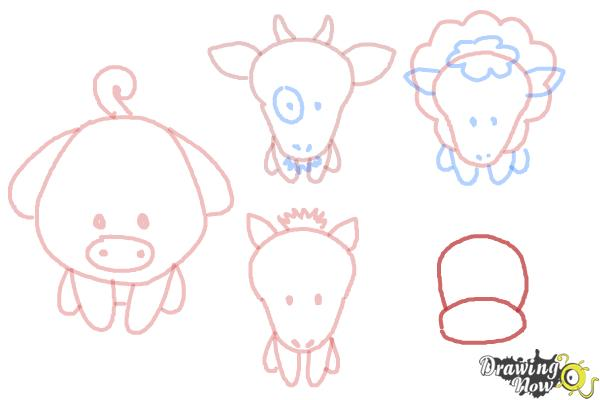 How to Draw Farm Animals For Kids - Step 13