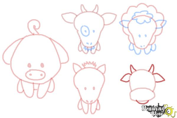 How to Draw Farm Animals For Kids - Step 14