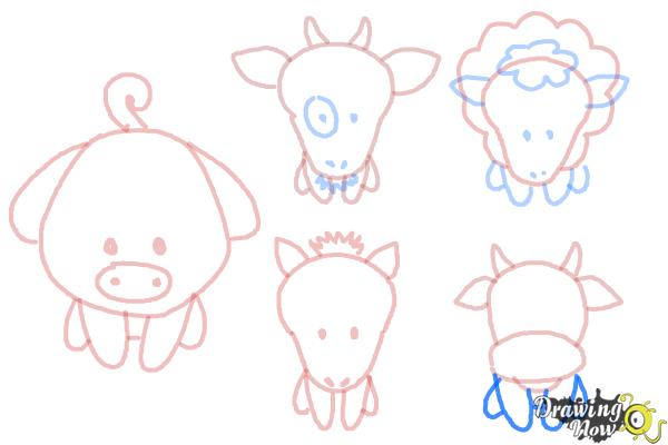 How to Draw Farm Animals For Kids - Step 15