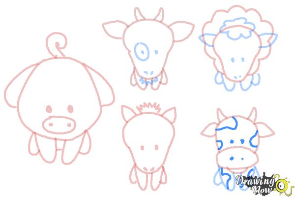 How to Draw Farm Animals For Kids - Step 16