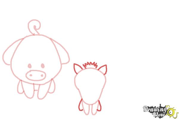 How to Draw Farm Animals For Kids - Step 5