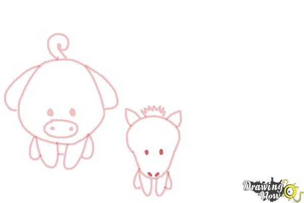 How to Draw Farm Animals For Kids - Step 6