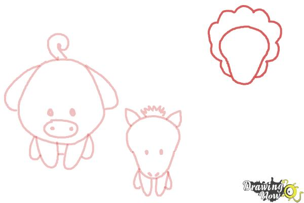 How to Draw Farm Animals For Kids - Step 7