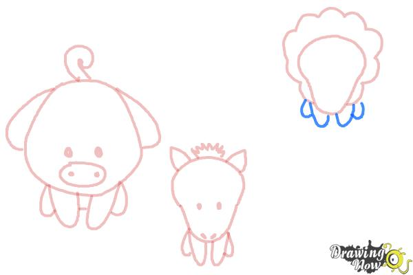 How to Draw Farm Animals For Kids - Step 8