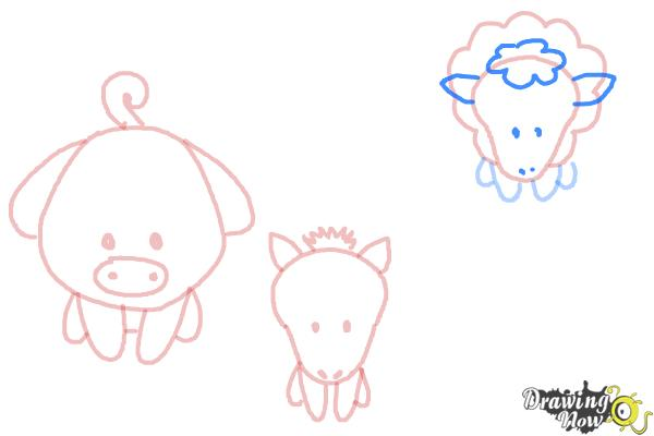 How to Draw Farm Animals For Kids - Step 9