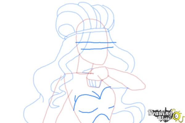 How to Draw Lizzie Hearts The Daughter Of The Queen Of Hearts from Ever After High - Step 7