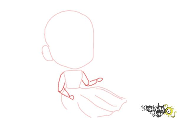 How to Draw Chibi Anna from Frozen - Step 4