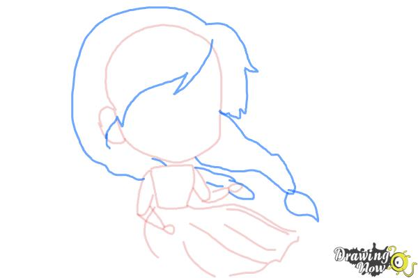How to Draw Chibi Anna from Frozen - Step 5