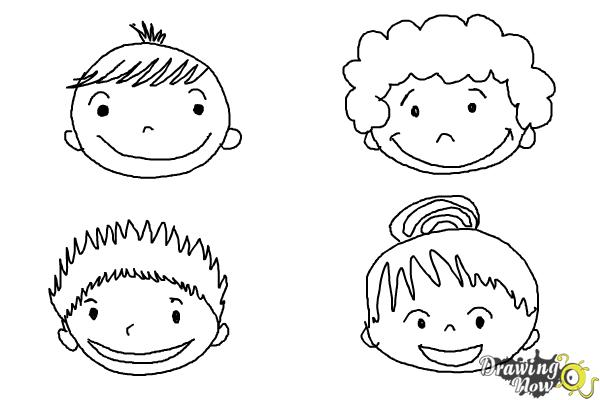 How To Draw A Face For Kids Drawingnow