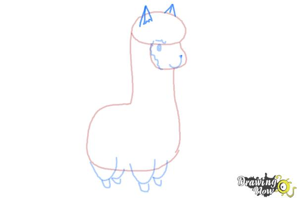 Line Drawing Llama : How to draw a llama for kids drawingnow