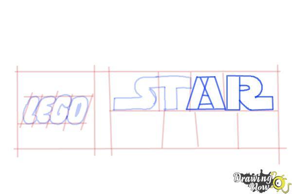 How to Draw Lego Star Wars - Step 6