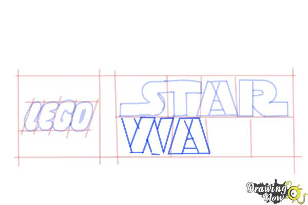 How to Draw Lego Star Wars - Step 7