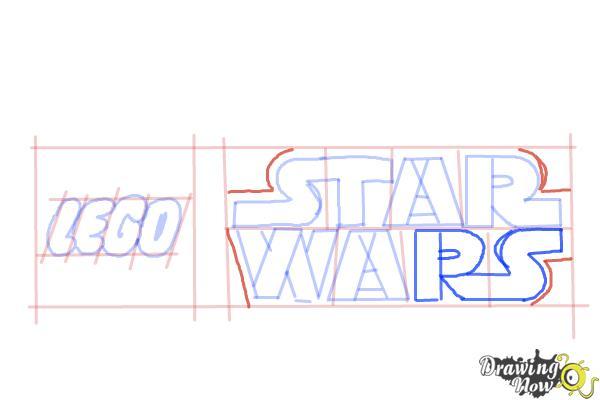 How to Draw Lego Star Wars - Step 8