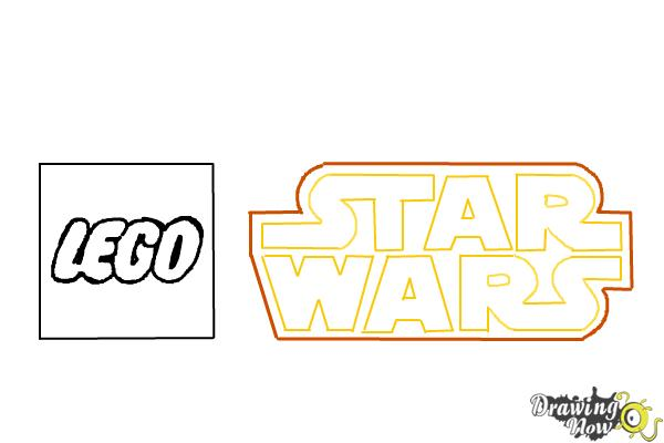 How to Draw Lego Star Wars - Step 9