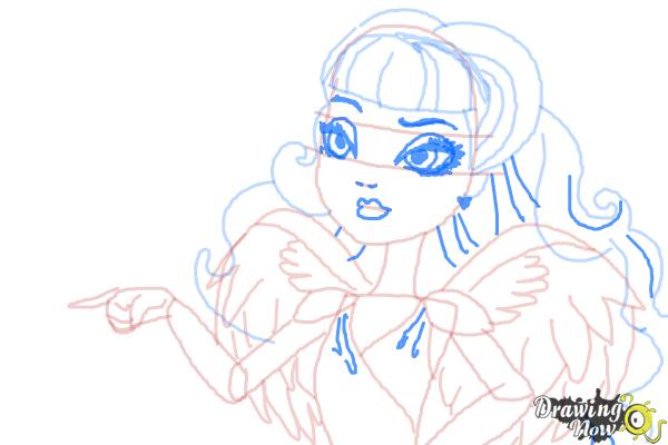 How to Draw C.A Cupid from Ever After High - Step 10