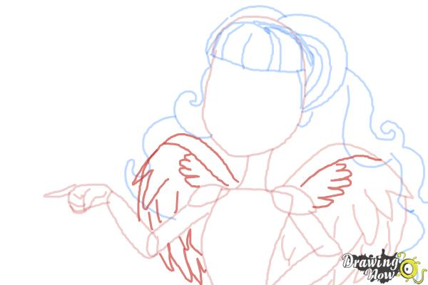 How to Draw C.A Cupid from Ever After High - Step 8