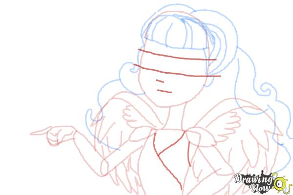 How to Draw C.A Cupid from Ever After High - Step 9