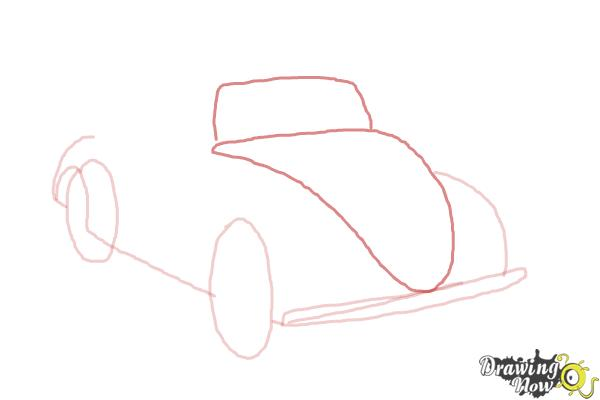How to Draw a Volkswagen Beetle - Step 4