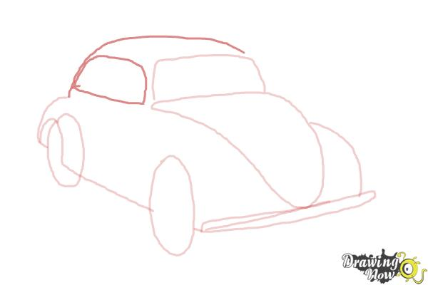 How to Draw a Volkswagen Beetle - Step 5